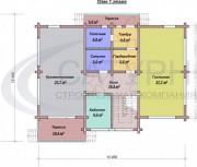 Проект Катрин - План 1 этажа